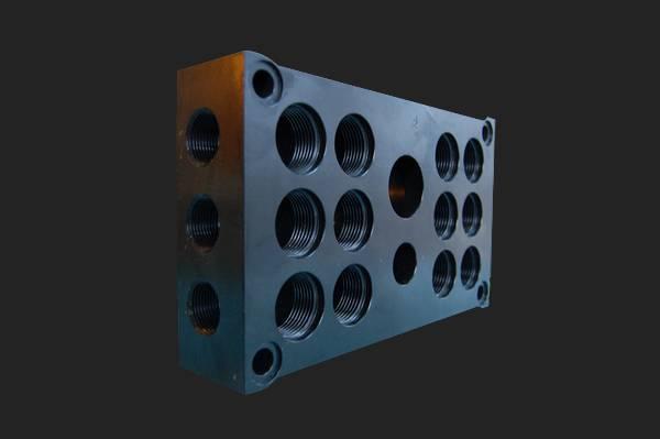 fraisage bloc distributeur aluminium traitement cataphorèse
